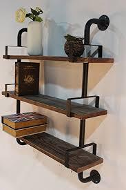 Reclaimed Wood Shelf Diy by Amazon Com Reclaimed Wood U0026 Industrial Diy Pipes Shelves