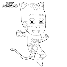 Pj Masks Gecko Coloring Pages Copy Pajama Hero Greg Is Gekko From