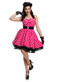 Womens Pink Polka Dot Pin Up Costume