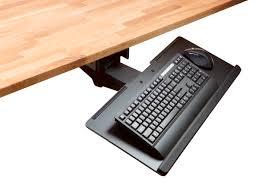 adjustable ergonomic keyboard tray with full size platform