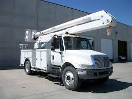 100 Altec Boom Truck 2005 International 4700 Single Axle Bucket 61 Spd