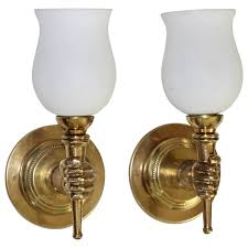 devoluy torch bronze wall sconces at 1stdibs
