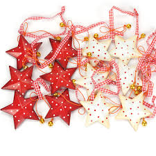 Christmas Decorations 12pcs Vintage Metal Star With Small Bell Tree Decoration 2018 Merry For