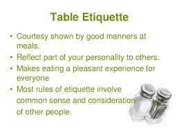 Unit 4 Table Setting And Etiquette