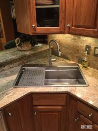 Retrofit Copper Apron Sink by Custom Top Mount Retrofit Stainless Kitchen Sinks By Rachiele