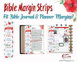 FREE PDF Printable Bible Journal Coloring Margin Strip Or Bookmark Fits In My Happy Planner
