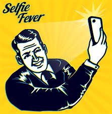 Download Vintage Retro Clipart Selfie Fever Man Takes A Selfie With Smartphone Camera Stock
