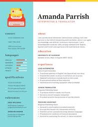 Colorful Two Column Resume Use This Template