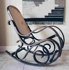 100 Woven Cane Rocking Chairs Furniture Cherry Chair Rattan Swivel Rocker Danish