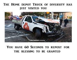 The Home Depot Truck Of Diversity - PewTube Neighbor Saw Nyc Terrorist In Home Depot Truck Several Times Over Man Drives Pickup Truck Into New Tampa Milwaukee 3500 Lb Capacity Convertible Hand Truck30152 The Breaking News Lower Mhattan Ny Driving A File2017 Attack Truckjpg Wikimedia Commons Best Ladder Racks P79 On Excellent Decor Lowes Ship Emergency Material To Florida Ahead Of Depot Diversity Pewtube Decked Pick Up Storage System For Gm Sierra Or Silverado Rental Flickr Penske Build At The Main Library Things Do Rouses Plans To Buy Closingsoon Building Curbed