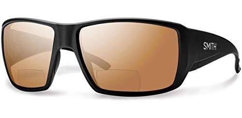 Smith Guides Choice Bifocal Polarized Sunglasses - Men's Matte Black/Copper Mirror 2.50, One Size