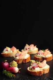 baked canapes 58 best smoked trout salmon canape recipes images on