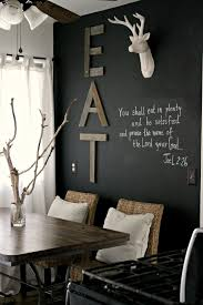 Eat In Kitchen EAT Wooden Wall Art Line Up Letters Horizontally Along