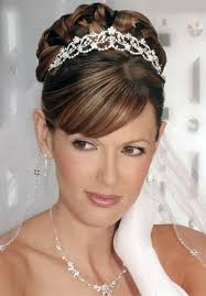 Side Ponytail Curly High Updo Vintage Wedding Hairstyles With Crystal Headband