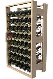 meuble de rangement en bois de 48 bouteilles visiorack aci vis301