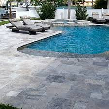 miami travertine pavers installed on sand