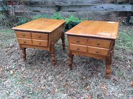 Ethan Allen Dark Pine Roll Top Desk by Vintage Ethan Allen Maple End Tables 85 Pair See More Info At