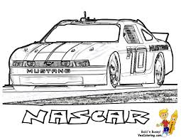 NASCAR Race Car Coloring Page You Can Print Out Yescoloring Images Free Nascar 08 Full ColoringPages