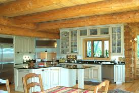 Log Cabin Kitchen Cabinet Ideas by Elegant And Peaceful Log Home Kitchen Design Log Home Kitchen