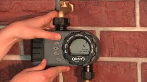 how to program an orbit 2 outlet hose faucet timer 24713 youtube