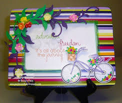 She Created This Fabulous Funky Card Using Lots Of Bright Bold Colours And Some Gorgeous Flowers Die Cut Foliage