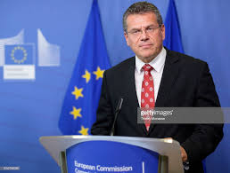 100 Sefcovic EU Energy Union Commissioner Maros Is Talking To Media On