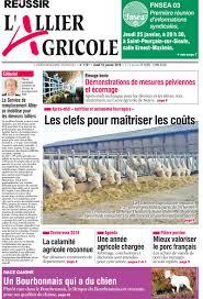 chambre d agriculture allier a la une les anciennes éditions du journal l allier agricole