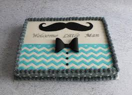 Mustache Baby Shower Cake Cake by Michelle More