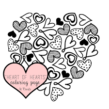 Heart Of Hearts Free Coloring Page