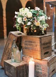 Vintage Wooden Crates Wedding Decor Ideas