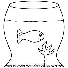 Pin Fish Bowl Clipart Coloring Page 7