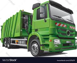 100 Rubbish Truck Modern Garbage Truck Royalty Free Vector Image