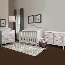 6 Drawer Dresser Tall by Thomasville Southern Dunes 3 Piece Nursery Set Lifestyle Crib