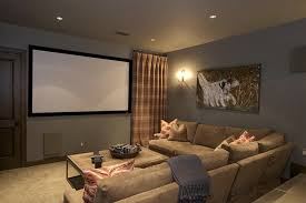 Media Room Paint Colors Home Theater Rustic With Art Curtain Dogs Movie Image By EANF