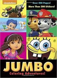 Jumbo Coloring Adventures Nickelodeon Super Book Golden Books