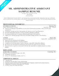 Resume Administrative Assistant Sample Executive Samples Example Australia