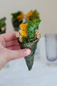 Japanese Pumpkin Pie Recipe by Japanese Pumpkin Temaki With Ginger Kale Chips