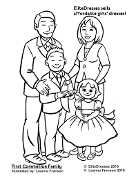 Family Coloring Page Good