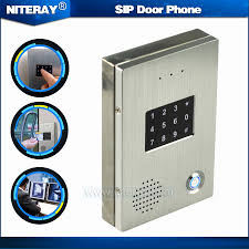 TCP IP Door Access Control SIP Door Bell VoIP Door Phone Audio ...