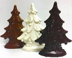 6 Inch Tall Christmas Tree Sugar Free Solid Chocolate 3 D