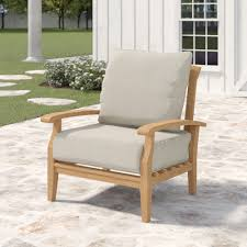 Birch Lane™ Heritage Summerton Teak Patio Chair With Cushions ... Weather Resistant Round Table Ding Set Chicago Wicker Malibu Contemporary Club Chair W Cushion Becker How To Choose And Look After Your Wooden Garden Fniture Blog 7 Taking A Look At Uncomfortable Wooden Chairs In College 24 Ways To Make The Most Of Tiny Apartment Balcony Willow Making Workshop Fortwhyte Alivefortwhyte Alive Three Posts Cadsden Patio Reviews Wayfair Mainstays Outdoor Recliner Ashwood Walmartcom Adirondack Pattern Sante Teak Wingback Chairs Belle Escape Recover Cushions Quick Easy Jennifer Maker