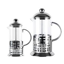 STG French Press Coffee Espresso Maker Tea Pot Stainless Steel Heat Resistant Glass Gift Mug Camping