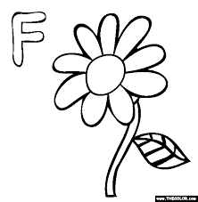 Alphabet Online Coloring Pages