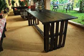 Black Pallet Dining Table