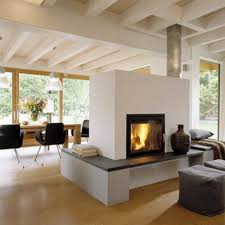 fireplaces in middle of room small home decoration ideas amazing