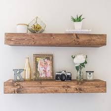 Floating Shelf Shelves Nursery Bathroom Kitchen Rustic Farmhouse Open Shelving