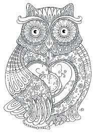 Coloring Pages For Christmas Printable Free Adults Advanced Pdf Owl