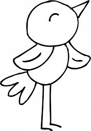 Baby Sparrow Birds Coloring Pages Bird Sheets