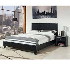 Black Leather Headboard King Size by Modern Black King Size Platform Bed Faux Leather Upholstered