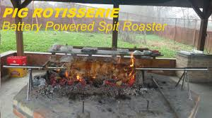 PIG, HOG Rotisserie On Portable Battery Powered Spit Roaster - YouTube How To Have A Farm Table Dinner In Your Backyard Recipes Backyard Rotisserie Chicken South Riding Va Luxor 42inch Builtin Propane Gas Grill With Aht A Gallery Of Images The Barbecue Stacker Which Expands Home Build An Outdoor Pizza Oven Hgtv Diy Motor Do It Your Self Diy Great Garden Designs Sunset Pig Hog On Portable Battery Powered Spit Roaster Youtube Custom Concrete Fire Pit And Seating Best Table Ideas On Pinterest I Hooked Jumbo Joe Up Rotisserie Works Weber